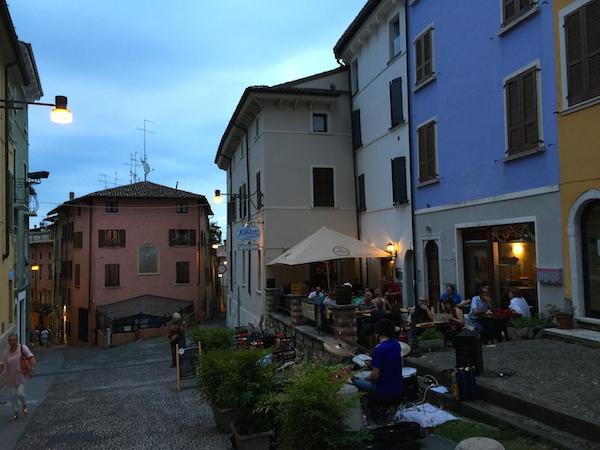 blues music and sunset Lake Garda