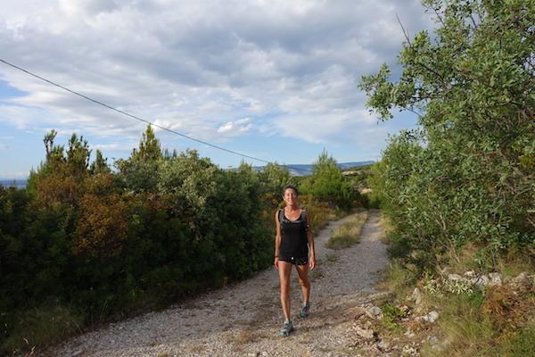 Beautiful tracks and scenery on Hvar island
