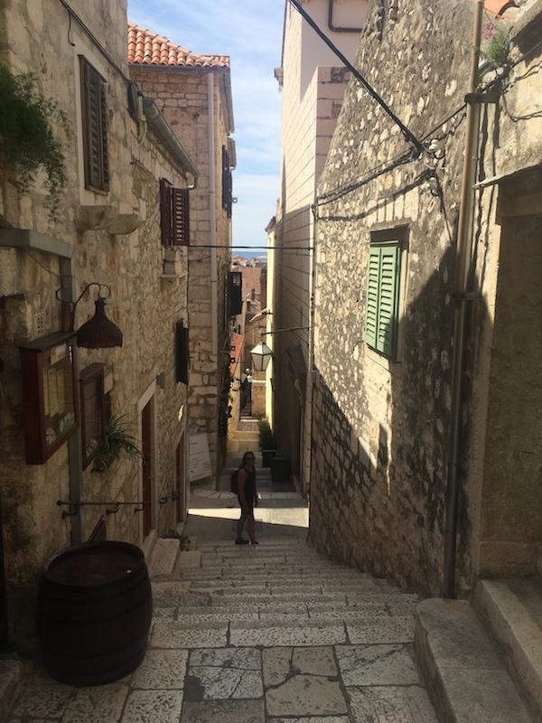 Exploring back streets of Hvar