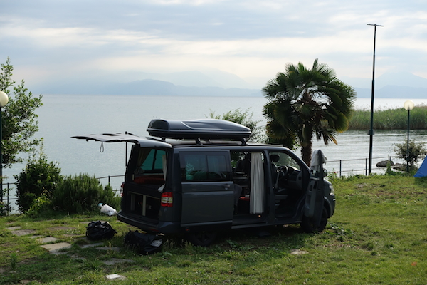 Great views of Lake Garda from campsite