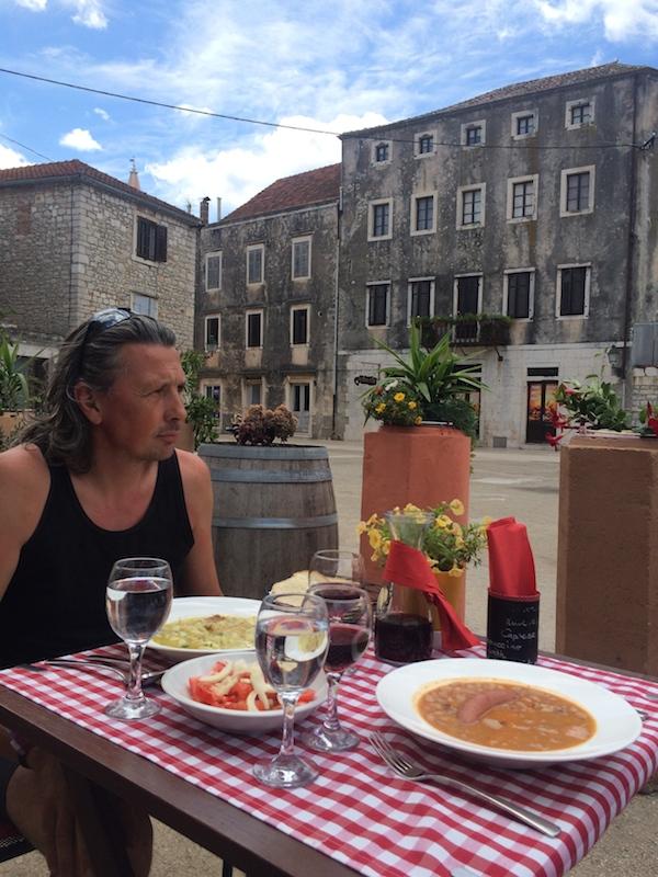 Local Croatian lunch in Stari Grad, Hvar