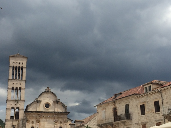 Stormy skies over Hvar Cathedral
