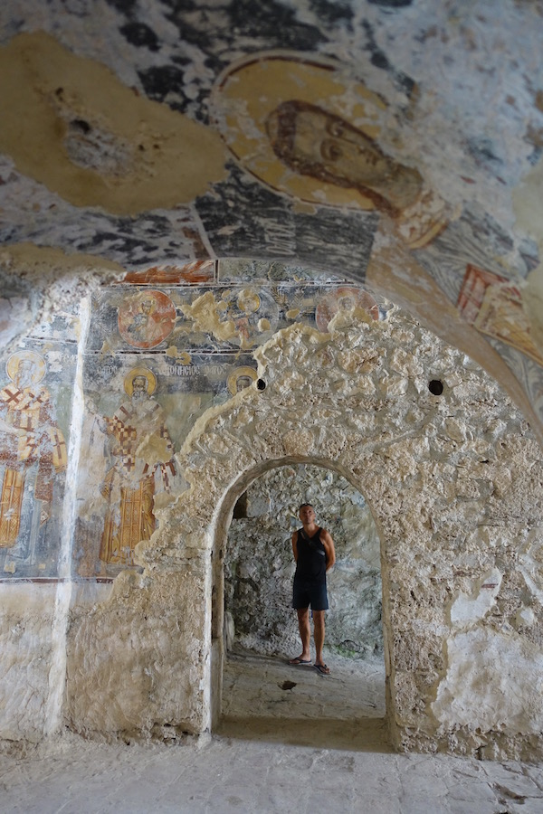 church Byzantine frescos Mystra