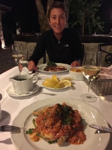Dinner in Montenegro octopus