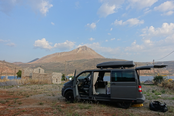 Wild camping in the Mani Itylo