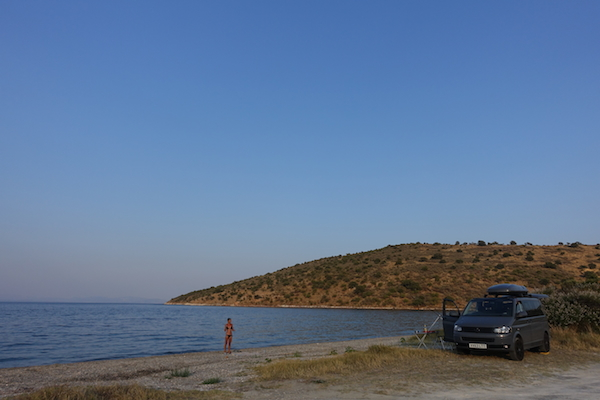 secluded wild camping on the Mani Greece