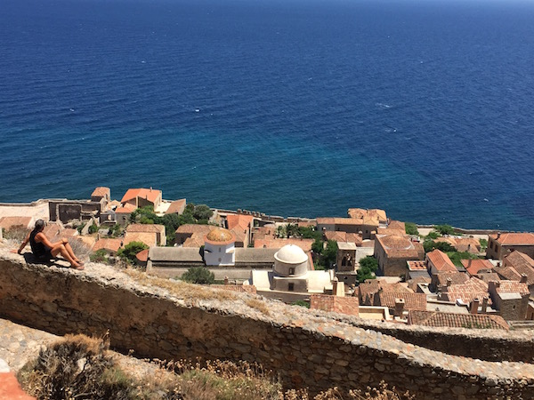 Enjoying peace and sunshine in Monemvasia