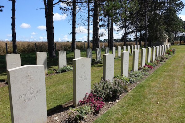 German graves in peaceful shared war cemetry