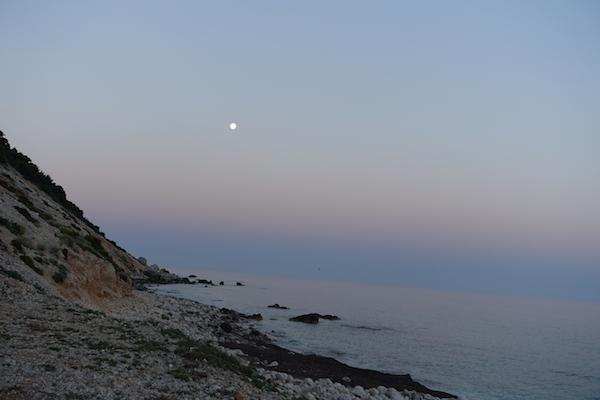 July full moon Lefkada beach