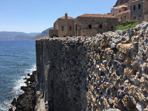 Mmonemvasia protected by the sea