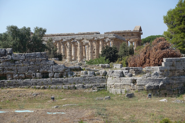 Paestum Greek ruin in Italy