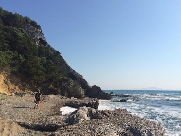 Peaceful beach walk Peloponnese