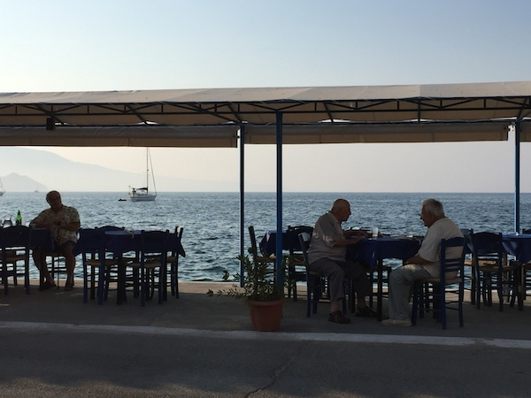 quiet cafes only Greek locals