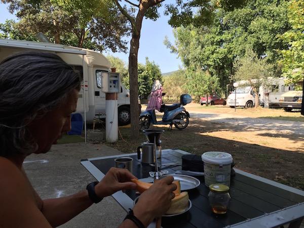 strange quiet camper stop Agropoli Cilento
