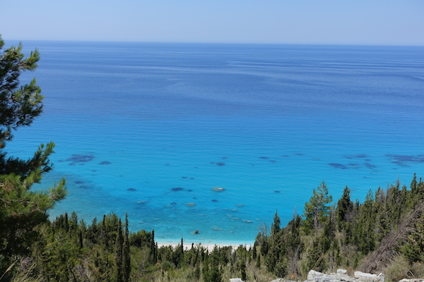 Turquoise waters and beach ahead Lefkada