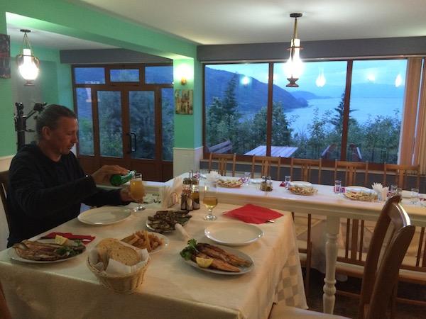 Wonderful dinner in Albania