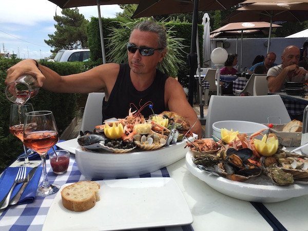 French seafood platter Verdon sur mer