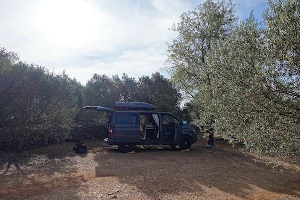 Camping Mindel Vela Luka secluded camping