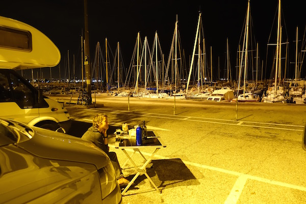 Trieste Italy camping Barcola harbour