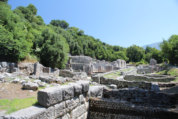 Butrint archaeological historic site Albania