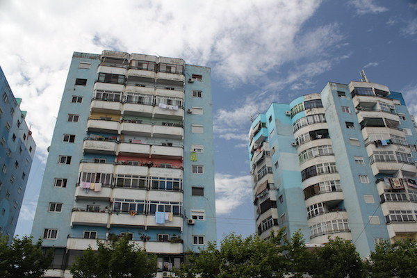 Edi Rama influence of Tirana communist era colourful apartment blocks