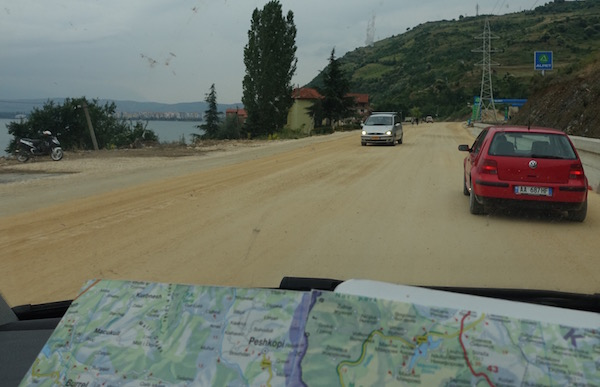 Discovering roads in Albania
