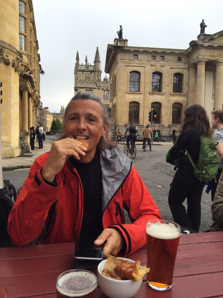 Ale and nibbles at Kings arms pub Oxford