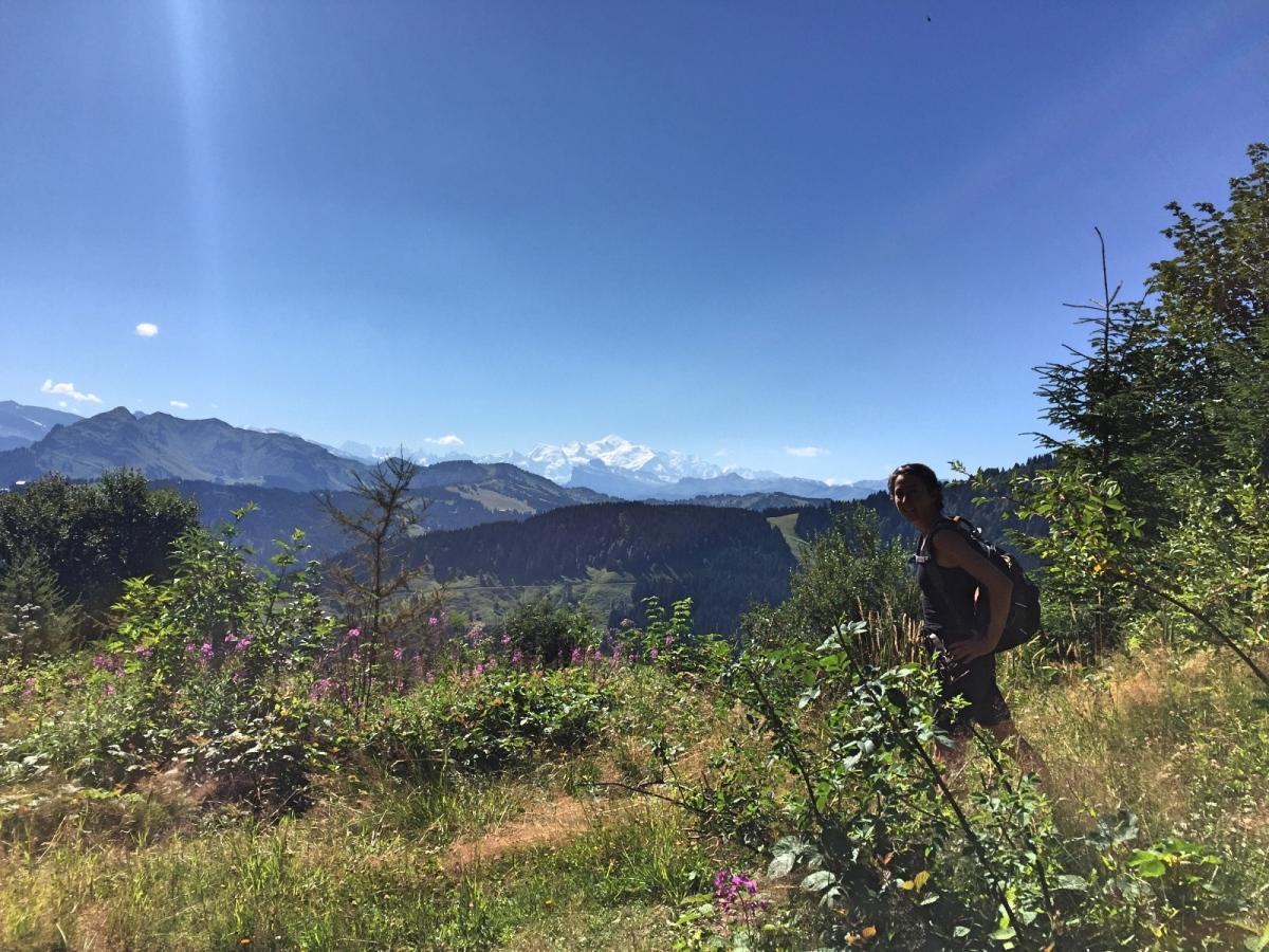 walking Portes du soleil Mont Blanc view