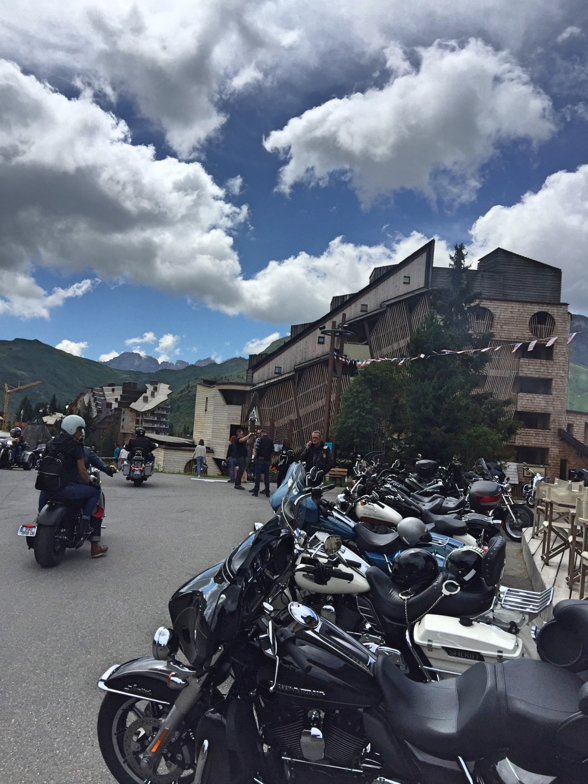 Harley Days parade Avoriaz